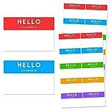 Ciao Hello Nome Adesivi, 7,5 x 5cm - 5 Colori, 250 Pezzi
