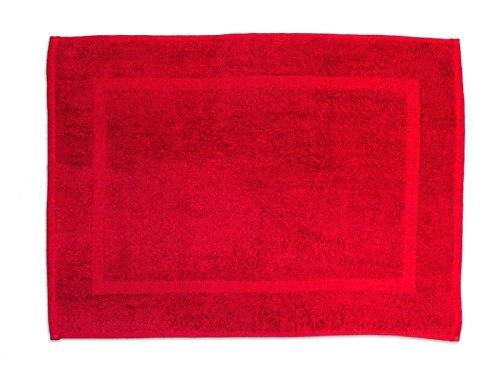 Soleil d'Ocre 477044 Tapis de Bain Coton Rouge 50 x 70 cm