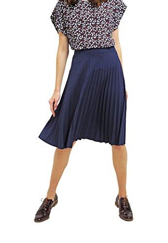 Anna Field Faltenrock Damen knielang in Blau, Größe (Plus Outfits Size Leder)