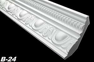 50 Meter Mouldings Stucco Corner Profiles Polystyrene Interior Decoration 70 x 90 mm B-24