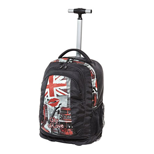City of Love London Trolley Schul-Rucksack Rollenrucksack WALKER Schneiders - Volumen: 31 Liter - 42482-080