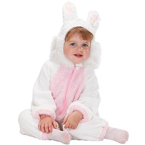 Costume vestito abito travestimento carnevale bambina coniglietto fuzzy