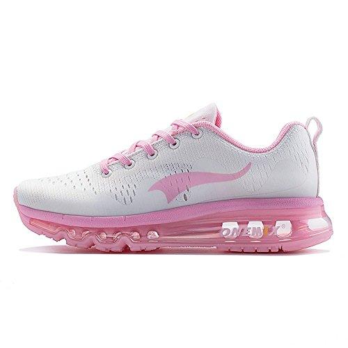 onemix Schuhe Frauen Laufschuhe Air Max Damen Sportschuhe für Walking Athletisch Sneaker mit Luftpolster Turnschuhe Leichte Schuhe - Pink 37