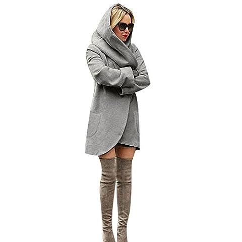 Vovotrade ❀❀ Warm Fashion Womens dünne lange Mantel Jacke Windbreaker Parka Outwear Wolljacke Mantel (EU Size:38,