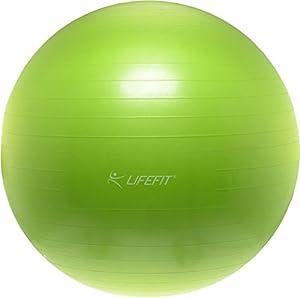 Lifefit Unisex-Adult Balance Gym Ball Anti-Burst, Grün, 55 cm