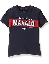 Tommy Hilfiger MAHALO CN TEE S/S - Camiseta Niñas, Blau (Black Iris 002), 8