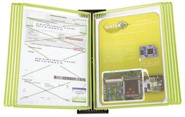 Preisvergleich Produktbild Wandelement Black aus Metall mit 10 Sichttafeln A4 grün