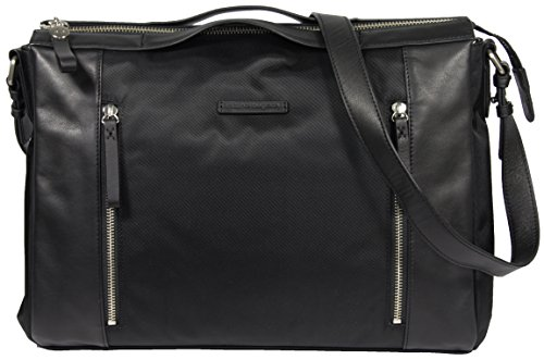 Marshall Bergman Odessa Satchel for 13-Inch Laptop - Black Nylon b59f7964dce6d