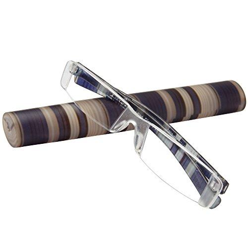 LianSan Marke leicht Port ¨ ¢ til liniert unisexo Sie Frauen Leser Lesebrille Brille L3220 2.00 blau