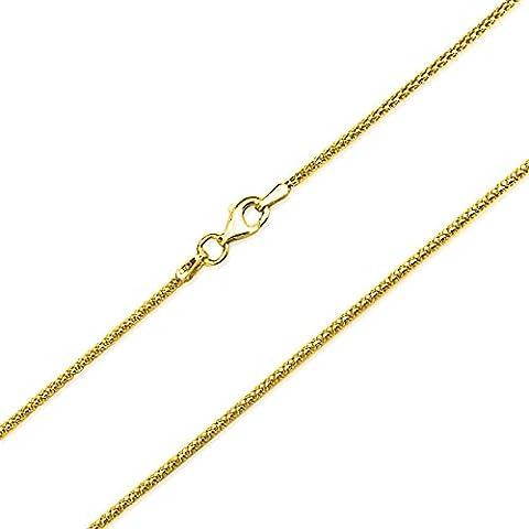 Bling Jewelry Oro Vermeil Coreana Palomita Medidor cadena Italiana 016