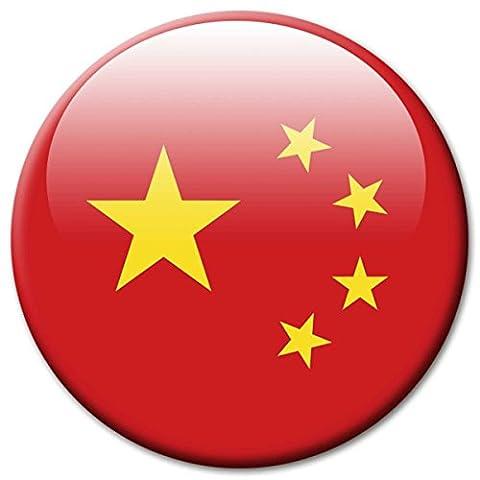 Länder Magnet Ø 5 cm Flagge China