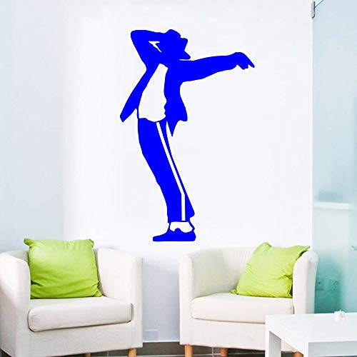 Musik Tänzerin Muster Wandaufkleber Kunst Design Wohnkultur Vinyl Wandbild The King Of Pop Cool Room 56 * 56 cm Monaco Salt