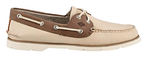 Sperry Top-Sider hommes Chaussures Chambray sous-le-vent de Bateau Off White Tan