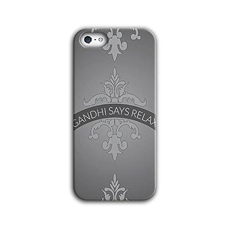 Se détendre Garder Calme Slogan Drôle Citation 3D iPhone 5 / 5SÉtui Pour | Wellcoda