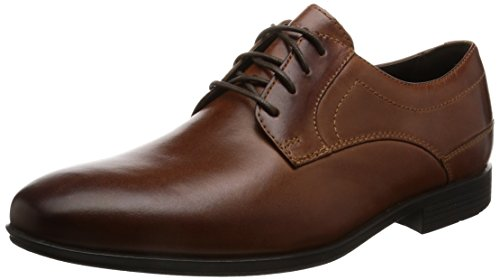 Rockport Herren Style Connected Plaintoe Stiefel, Braun (Brown Leather), 42 EU (Jungen Braune Schuhe)