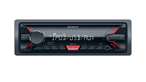 Sony DSX-A200UI Mechaless Autoradio (USB, AUX Anschluss, MP3/WMA/FLAC, Apple iPod/iPhone Control Funktion) schwarz