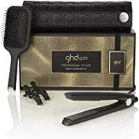 ghd smooth styling gift set - Set de plancha de pelo profesional ghd gold, cepillo