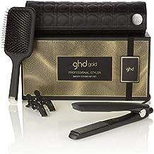 ghd smooth styling gift - Set de plancha de pelo profesional ghd gold, cepillo de