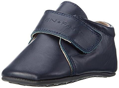EnFant bébé mixte, chaussures souples / chaussons à scratch, cuir, bleu marine, 815140-04