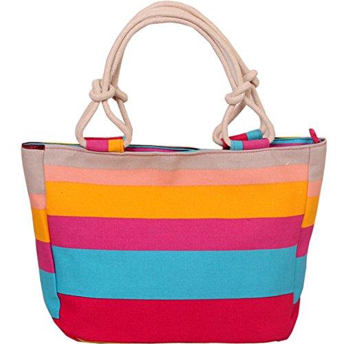 Kaxidy donna borsa da spiaggia grande tela borsa a spalla tote da viaggio (stile-02)