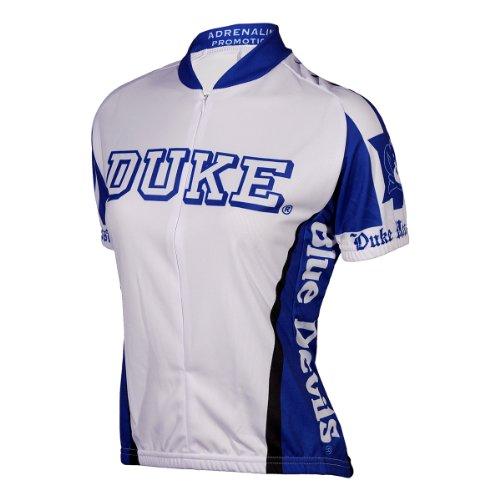 Adrenaline Promotions NCAA Frauen Duke Blue Devils Radtrikot, Jungen, Weiß/Blau, XX-Large -