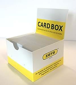 100 cartes en plastiques vierges avec bande LOCO Couleur: blanc
