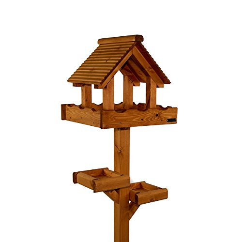 Riverside Woodcraft Triple Platform Bird Table With Anti Bacteria Coating