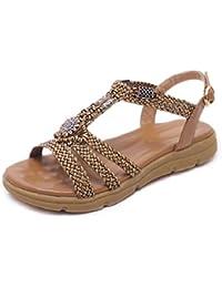 YMFIE Moda estate sandali flat scarpe da spiaggia slip,35 UE,b