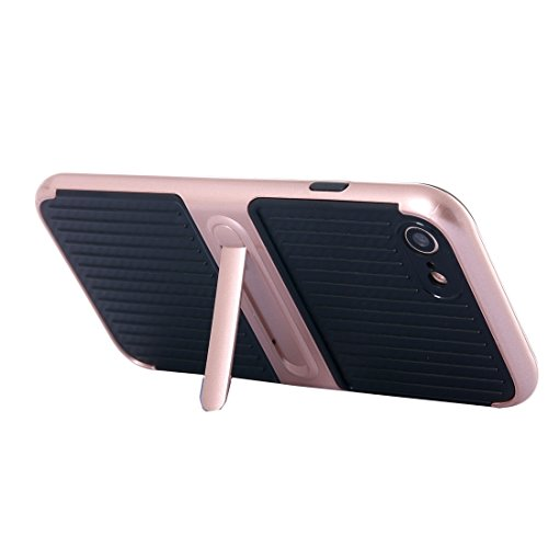 IPhone 7 Fall Shockproof TPU + PC schützender Fall mit Halter für iPhone 7 by diebelleu ( Color : White ) Rose gold