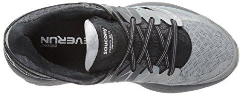 Saucony Hurricane Iso 2 Reflex, Chaussures de Running Compétition Femme Gris (Grey/white)