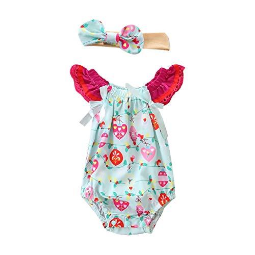 Baby Strampler Set Pwtchenty Cartoon Gedruckt Baby Mädchen Overall Kleider Romper Outfit Jumpsuit Somme Strampler Bodysuit Outfits Kleidung