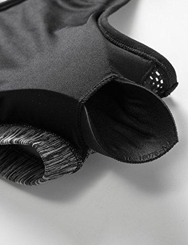 CRZ YOGA Sport Yoga BH - X-Rücken,Herausnehmbare Polsterung,Bügellos Grau Melange