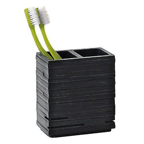 Gedy - Porte Brosse Dents Plastic Noir QUADROTTO - Gedy - G-QU981400300