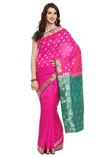 52fbc56872 Viva N Diva Women's Banarasi Art Silk Saree with Unstitched Blouse Piece,  Free Size (