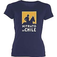 Desconocido Camiseta Chica Nitrato De Chile EGB ochenteras 80´s Retro