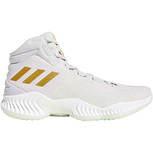 adidas Herren Pro Bounce 2018 Basketballschuhe, Grau Gretwo/Gold Mt/Aergrn, 49 1/3 EU