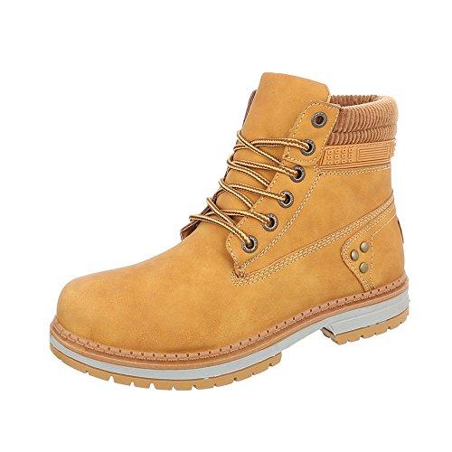 Zapatos para Mujer Botas Tacón Ancho Botines con Cordones Marrón Tamaño 38