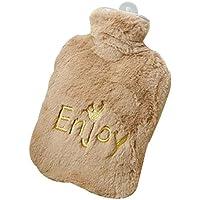Preisvergleich für [Braun] Wärmflasche Füllen Wasser Plüsch-Handwärmer, 900ml