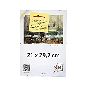 Set 5 Stk. - CLIPRAHMEN 21x29,7 cm (A4) - Rahmenlose Bildhalter