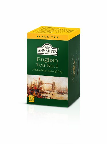 Ahmad Tea - English Tea No 1 | Schwarztee-Mischung mit Bergamotte | 20 Teebeutel á 2 g | Teebeutel mit Band (Ahmad Tea English 1)