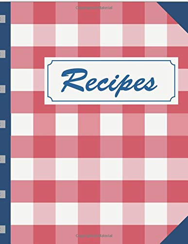 Recipes: Blank Fill In Cookbook Template To Write In (Cooking Gifts, Band 19) -