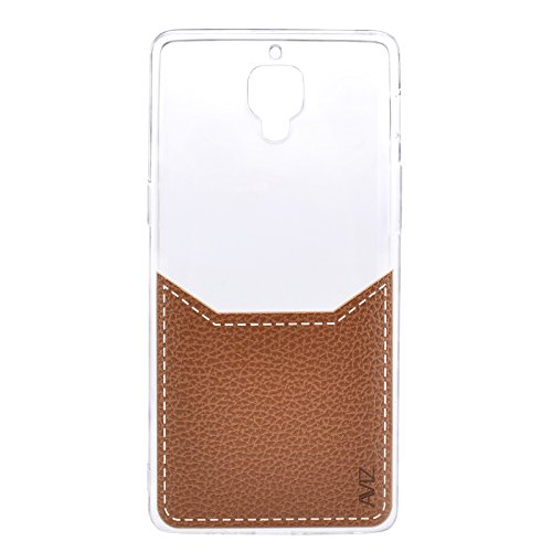super popular 6e7a7 4009f Aviz Soft Back Case Cover with Leather Print for OnePlus 3 / OnePlus 3T /  One Plus 3T - Brown