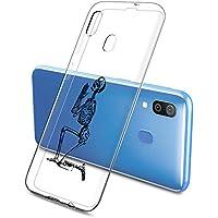 Oihxse Funda Samsung Galaxy Note 10 Plus, Ultra Delgado Transparente TPU Silicona Case Suave Claro Elegante Creativa Patrón Bumper Carcasa Anti-Arañazos Anti-Choque Protección Caso Cover (A9)