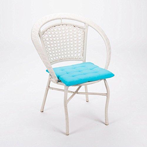 dimio stuhlkissen 40 40 x 3 3cm schicke landhaus sitzkissen in 12 trendigen farben weich. Black Bedroom Furniture Sets. Home Design Ideas
