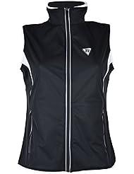 Golf chaqueta sin manga NEGRO-BLANCO (XL)