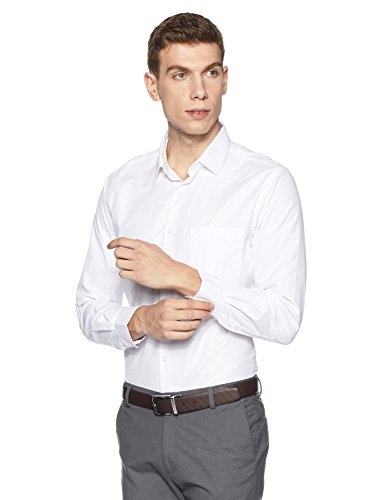 Diverse Men's Solid Regular Fit Cotton Formal Shirt (DVF01F1L01-75-40_White)