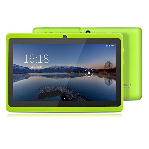 YUNTAB Q88 7-Zoll-Tablet-PC, 1 GB RAM + 16 GB ROM, Google Android 8.1, AllwinnerA33-Quad-Core-Cortex-A7 1,5 GHz, HD-Touchscreen, Dual-Kamera, WI-FI, Bluetooth (Grün)