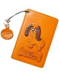 Cavalier King Charles Spaniel piel de perro Pass/ID/de crédito/tarjetero/para * VANCA * Hecho a mano en Japón