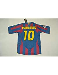 BROOK Ronaldinho 10 Barcelona Home Retro Soccer Jersey 2006 Full UCL. Patch  (Red Blue a6529f0ff65