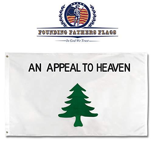 Liberty Baum bestickt Flagge-Sons Of Liberty Edition-Ein Appell an Heaven Kiefer Tree 3'x5' Flagge -
